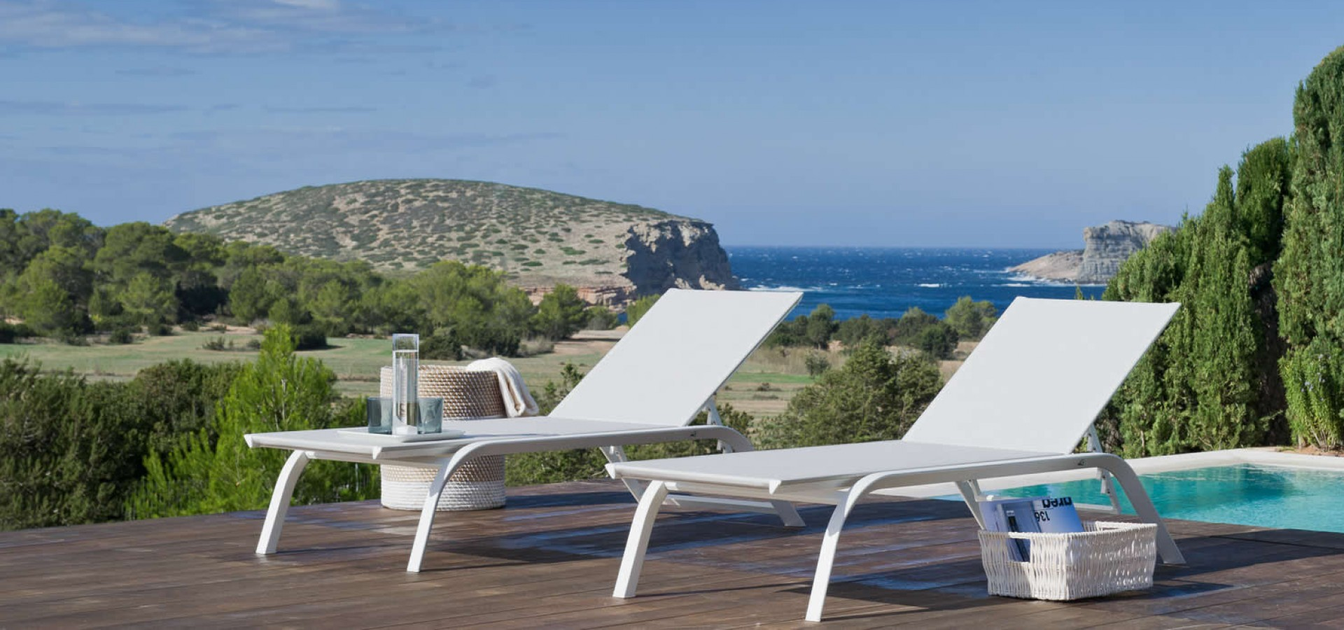 Sun Loungers and sling chairs